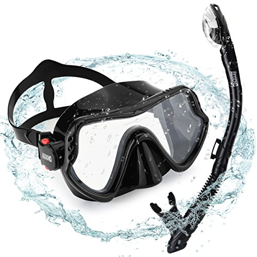 Tempered Glass Diving Mask Amp Dry Top Snorkel Anti Fog
