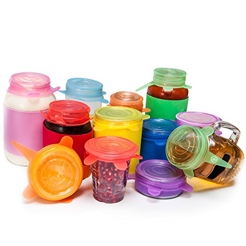 6 Pc Silicone Stretch Lids Reusable Durable Expandable